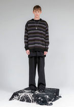 FLARE UP Sweaters Crew Neck Pullovers Stripes Unisex Street Style Long Sleeves 8