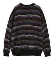 FLARE UP Sweaters Crew Neck Pullovers Stripes Unisex Street Style Long Sleeves 12