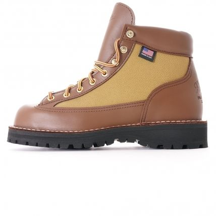 Unisex Street Style Plain Leather Gore-Tex Boots