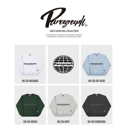 Paragraph Unisex Street Style Long Sleeves Cotton Oversized
