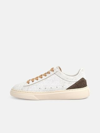 Street Style Leather Logo Low-Top Sneakers