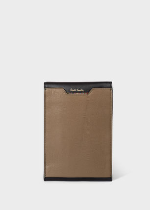 Paul Smith Stripes Bi-color Leather Card Holder Logo