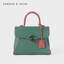 Charles&Keith Casual Style Faux Fur 2WAY Bi-color Plain Office Style