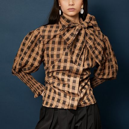 Short Other Plaid Patterns Casual Style Long Sleeves Medium