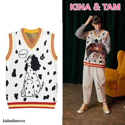 Kina and Tam Vests Casual Style Cotton Medium Loungewear Vests