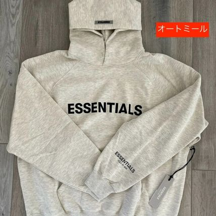 FEAR OF GOD ESSENTIALS Unisex Street Style Collaboration Logo Hoodies