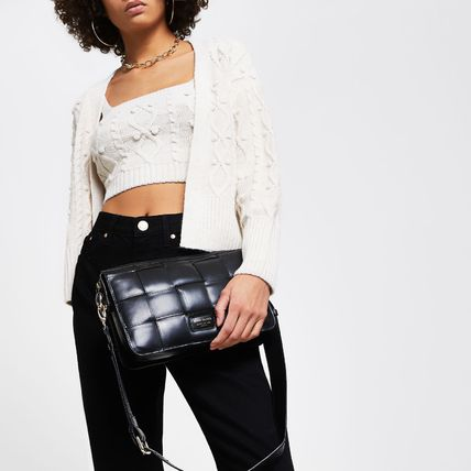 River Island Casual Style 2WAY Plain Leather Party Style Office Style