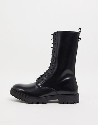 ASOS Leather Engineer Boots