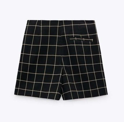ZARA Other Plaid Patterns Casual Style Shorts