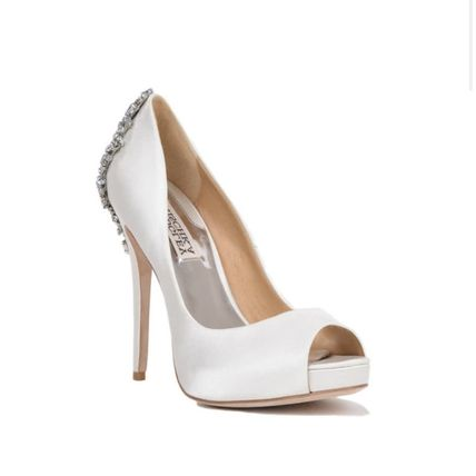 Open Toe Platform Plain Leather Pin Heels Party Style
