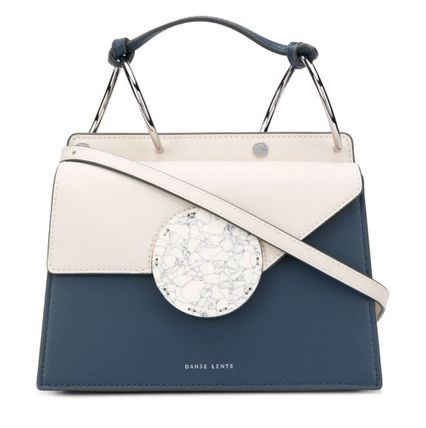 Casual Style Leather Party Style Logo Handbags