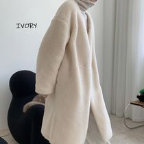 Casual Style Wool Street Style Plain Medium Long Party Style