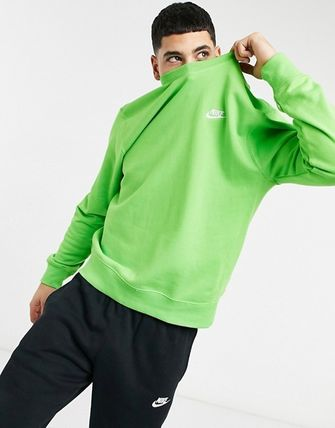 Nike Sweatshirts Crew Neck Street Style Long Sleeves Plain Logo Sweatshirts 2