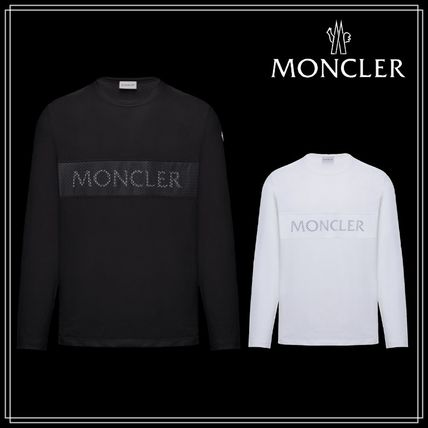 MONCLER Long Sleeve Crew Neck Blended Fabrics Long Sleeves Cotton