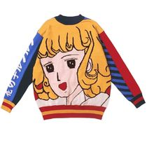 Kina and Tam Casual Style Long Sleeves Cotton Medium Logos on the Sleeves