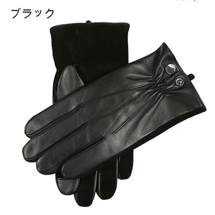 DENTS Wool Plain Leather Leather & Faux Leather Gloves
