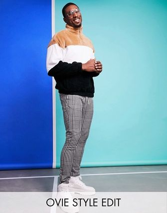ASOS Printed Pants Other Plaid Patterns Street Style Bi-color
