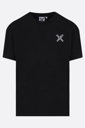 KENZO Crew Neck Plain Cotton Short Sleeves Logo Designers