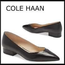 Cole Haan Casual Style Plain Leather Block Heels Office Style