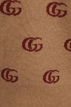 GUCCI Sweaters Double G Jacquard Wool V-Neck Sweater 5