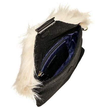 Casual Style Unisex Faux Fur Street Style Plain Party Style