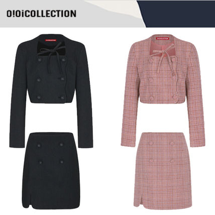 Logo Casual Style Long Sleeves Street Style Dresses