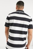 Nike Polos Pullovers Stripes Street Style Bi-color Cotton Short Sleeves 5