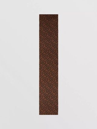 Burberry Other Plaid Patterns Unisex Cashmere Tassel Street Style