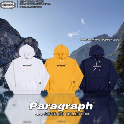 Paragraph Hoodies Unisex Street Style Long Sleeves Cotton Oversized Hoodies