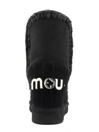 Round Toe Rubber Sole Casual Style Fur Logo