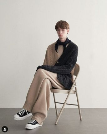 TRUNK PROJECT ★Trunk Project★Cable Wrap Wool Cardigan Jacket