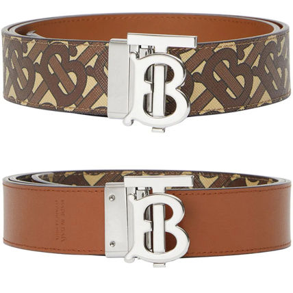 Burberry Leather Logo Belts