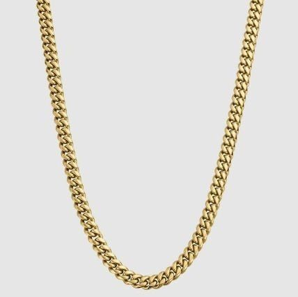 Street Style 18K Gold Necklaces & Chokers