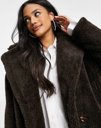 ASOS Faux Fur Fur Party Style Office Style Elegant Style