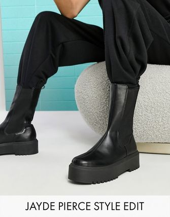 ASOS Round Toe Casual Style Street Style Plain Chelsea Boots
