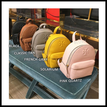 Tory Burch Casual Style Plain Leather Elegant Style Backpacks