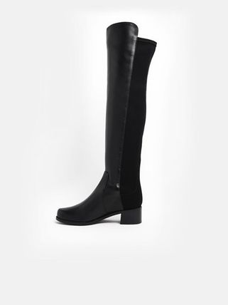 Street Style Leather Over-the-Knee Boots