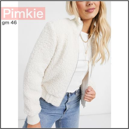 Pimkie More Jackets Casual Style Street Style Plain Elegant Style Shearling
