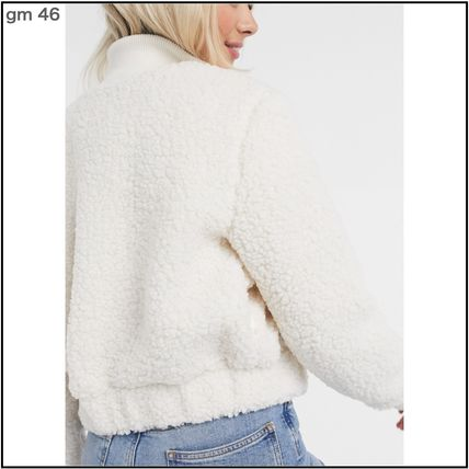Casual Style Street Style Plain Elegant Style Shearling