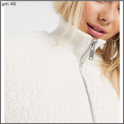 Pimkie More Jackets Casual Style Street Style Plain Elegant Style Shearling 3