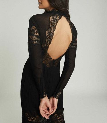 Maxi A-line Long Sleeves Plain Long Party Style