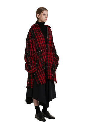TRUNK PROJECT ★Trunk Project★Tweed Check Shirt Coat