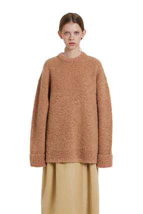 TRUNK PROJECT ★Trunk Project★Two tone Boucle Knit Sweater
