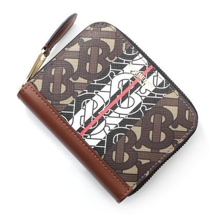 Burberry Leather Small Wallet Logo Card Holders
