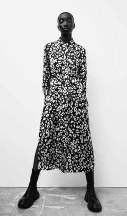 ZARA Casual Style Long Sleeves Other Animal Patterns Long