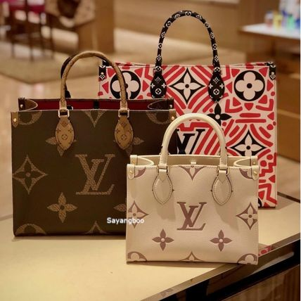 Monogram Casual Style 2WAY Plain Leather Party Style Purses