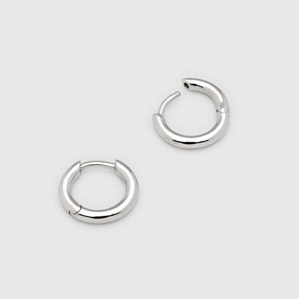 Unisex Street Style Plain Handmade Silver Earrings