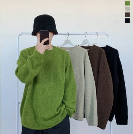 HUE Sweaters Unisex Street Style Collaboration Long Sleeves Plain