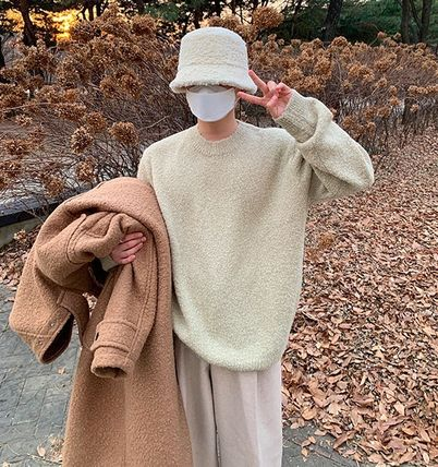 HUE Sweaters Unisex Street Style Collaboration Long Sleeves Plain 3