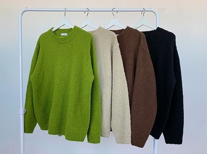 HUE Sweaters Unisex Street Style Collaboration Long Sleeves Plain 16